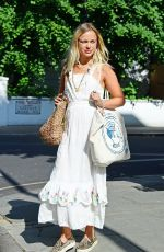 Amelia Windsor Loks every inch of an English rose and looks stunning in a white summery dress - London