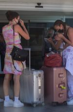 Anastasia Karanikolaou Arrives at the airport with friends in Cabo San Lucas