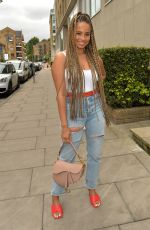 Anna Vakili, Francesca Allen, Amber Gill and Mandi Vakili seen on a girls lunch date at Smiths restaurant