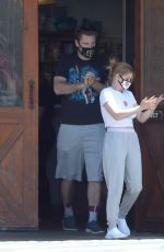 Ariel Winter Picking up her dogs up from the veterinarian and shopping in LA