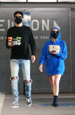 Ashley Benson and G-Eazy grab takeout at Erewhon Market in LA