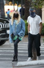 Ashley Benson Grabs a bite with friends at Birds restaurant in Los Angeles