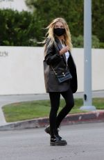 Ashley Benson Steps out to meet a friend for dinner in Los Angeles