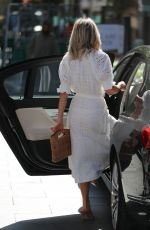 Ashley Roberts Dazzles in white at Global Radio Studios in London