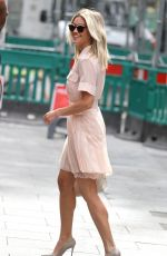 Ashley Roberts Leaving the Heart Radio Studios in London