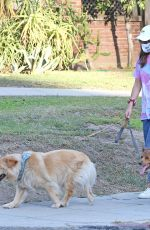 Aubrey Plaza Pictured Walking Her Dogs in Los Angeles