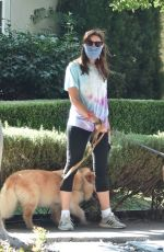 Aubrey Plaza Takes her dogs on a walk with her friend in Los Feliz