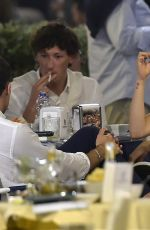 Aurora Ramazzotti and her boyfriend Geoffrey Cerza at dinner in Portofino