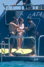 Bella Thorne In a bikini on a yacht in Cabo San Lucas