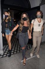 Brielle and Ariana Biermann are spotted leaving dinner and heading to Catch with the Stallone Sisters in West Hollywood