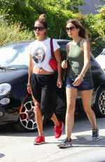 Brooke Burke Walking with a friend in Malibu