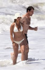 Brooks Nader In bikini on the beach in the Hamptons