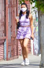 Camila Mendes Getting an iced coffee in Los Feliz
