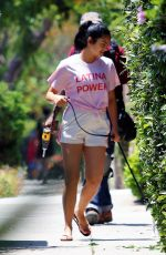 Camila Mendes Walking her dog in LA