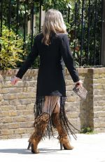 Caprice Bourret Going to a meeting at Laylow in London