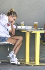 Cara Delevingne and Margaret Qualley Having lunch in Studio City