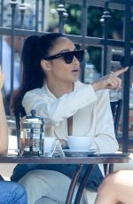 Cara Santana Has lunch with friends at Urth Caffe and speaks briefly on her new fashion line in West Hollywood