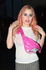 Carla Howe With new pink hair in London