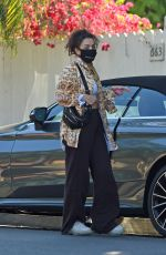 Charli XCX Heads to a friends house amid the COVID-19 pandemic in Los Angeles