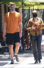 Charli XCX Steps out with her boyfriend for coffee in Los Feliz
