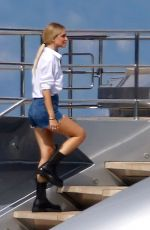 Chiara Ferragni At a Photoshoot on the Yacht in France