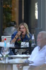 Chiara Ferragni Rumored to be pregnant at Lunch in Milan