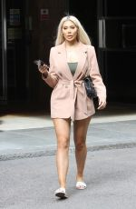 Chloe Ferry Puts on a leggy display and looks chic spotted out in London