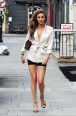 Chloe Veitch Looking fashionable and showing off her toned legs while pictured out in central London