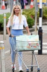 Christine McGuinness Showing off her amazing figure in her My Vibe Gym wear range while out shopping at Marks and Spencers in Cheshire