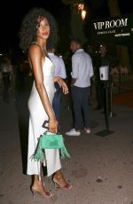 Cindy Bruna Arrives at Vip room la Gioia with friends in Saint Tropez, France