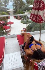 Claudia Romani Seen at the Faena Hotel SPA deck overlooking the pool area