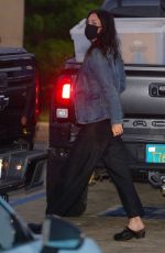 Courteney Cox Arrives for dinner with her family at Nobu in Malibu