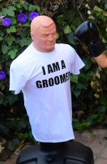 Courtney Stodden Takes shots at her ex Doug Hutchinson punching shirt in Beverly Hills