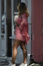 Dani Dyer Strutting her stuff during a photoshoot on the Portobello Road in trendy Notting Hill