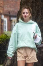Delilah Belle Hamlin As she takes a dressed down dog walk with Eyal Booker in London