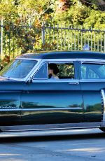 Dita Von Teese Takes her clean classic Chevy for a cruise in Los Angeles