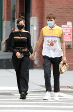 Dua Lipa & Anwar Hadid Seen holding hands after lunch at Cafe Habana in New York City