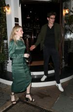Ellie Goulding and Caspar Jopling enjoy a night out at Casa Cruz restaurant in Notting Hill