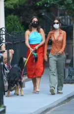 Emily Ratajkowski Out with a friend in NYC