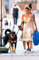 Emily Ratajkowski Pictured walking her dog, Colombo with a friend in New York City