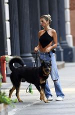 Emily Ratajkowski Walking Colombo out in NYC