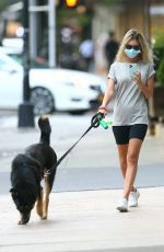 Emily Ratajkowski With her dog Colombo in NYC