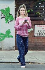 Emma Rigby Out and about without a bra in London