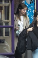 Emma Watson Out shopping for lingerie at Tallulah Lingerie in North London