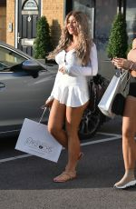 Eve Gale and Jess Gale seen leaving Easilocks hair salon in Brentwood