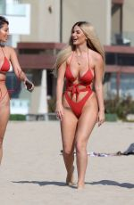 Francesca Farago At the beach with her