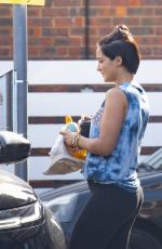 Frankie Bridge After she revealed in a Q&A that her and her family got Covid-19 - London
