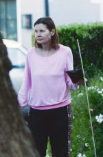 Geena Davis Steps out make up free in Los Angeles