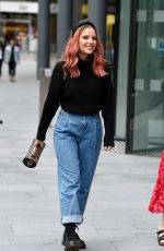 Helen Flanagan Showing off her new pink hair out for the evening with her mum at The Ivy Restaurant in Manchester