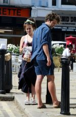 Helena Bonham Carter Seen out with her boyfriend Rye Dag Holmboe as they picking up their dog from the veterinary in North London